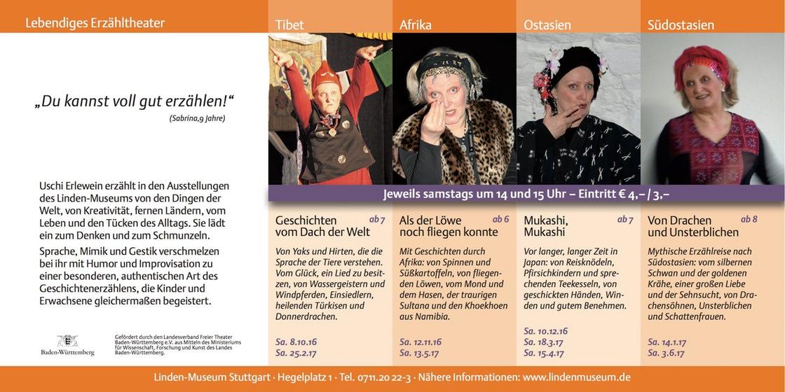 Termine der 13. Saison der Erzählreihe im Linden-Museum Stuttgart